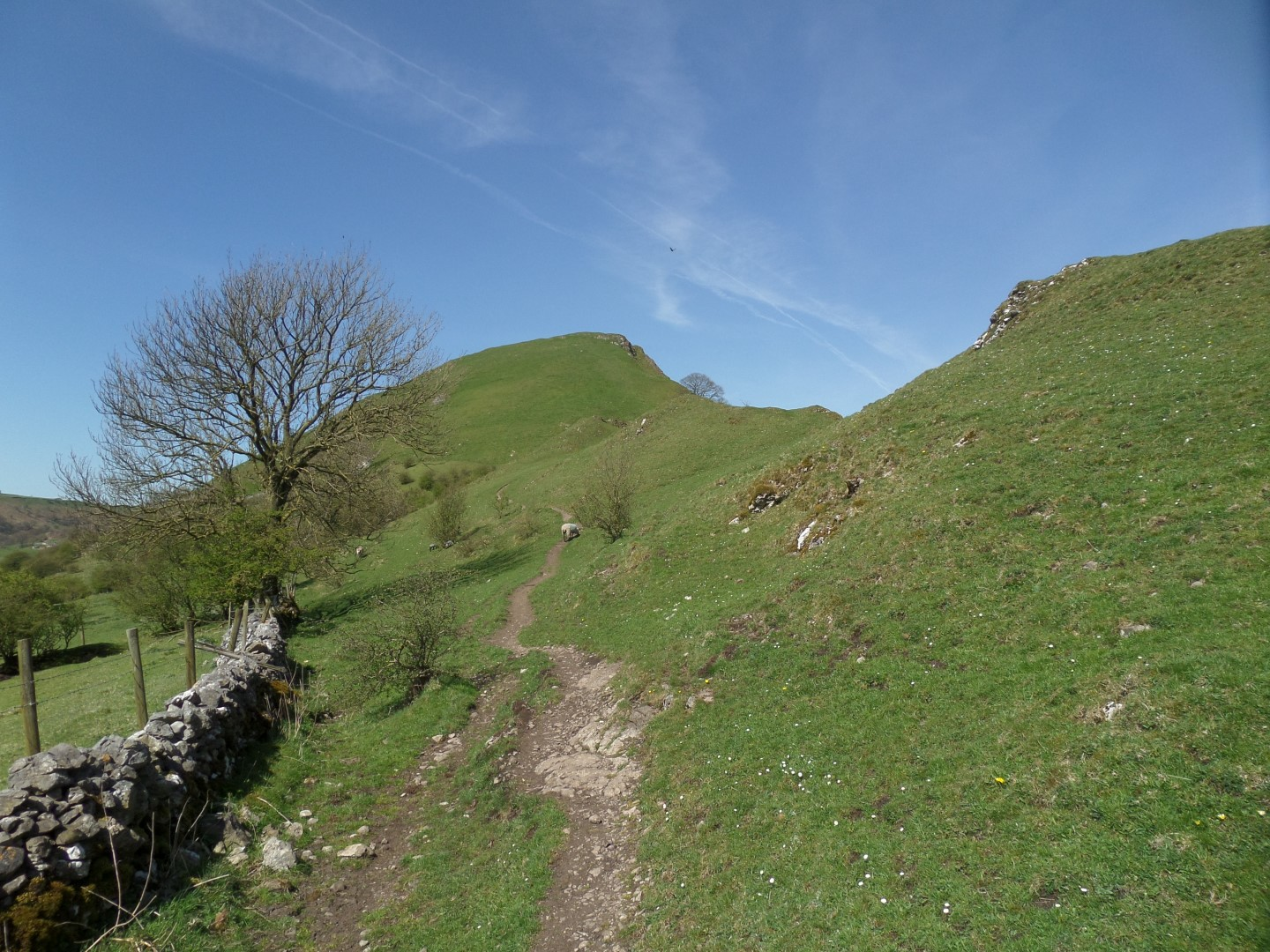 The ascent of Chrome Hill begins